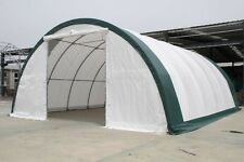 30x40x15 Canvas Fabric Tarp Storage Building Shelter Shop Metal Frame warranty