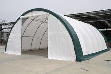 30x40x15 Canvas Fabric Tarp Storage Building Shelter Shop Metal Frame warranty