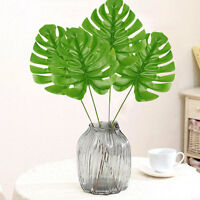 5X Artificial Large Monstera Branch Palm Fern Turtle Leaf Faux Foliage,Leaves^