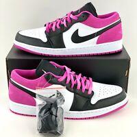 Nike Air Jordan 1 Low SE Pink Fuchsia Men's Sneakers Shoe Black White CK3022 005