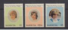 Barbuda 620-22 Princesa Diana (MNH)