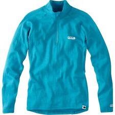 Madison Aqua Blue Isoler Merino 1-4 Zip Womens Long Sleeved Baselayer Top UK 14