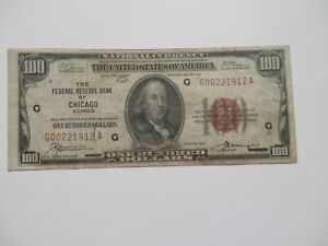 VERY LOW SERIAL # ON A $100 series of 1929 Bill With Brown Seal , Very Nice