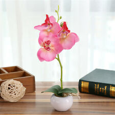 Phalaenopsis Butterfly Orchid Simulated Bonsai Silk Flower Bouquet Potted Decor