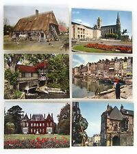 Frankreich Lot 6x CPA ua. Bosc-Guerard, Rouen, Honfleur, color Postkarten >1960