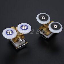 4x Shower Door Roller Twin Wheels Runner Top Bottom Pulley 26mm For 6-8mm Glass