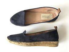 GAIMO Anthropologie $198 Royal Blue Suede Espadrilles Shoes SPAIN 39 / US 8