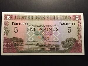 Ulster Bank 1993 Five Pounds £5 Note UNC