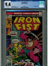 IRON FIST #7 CGC 9.4 NEAR MINT WHITE PAGES 1975 BLUE LABEL ANGAR APPEARANCE
