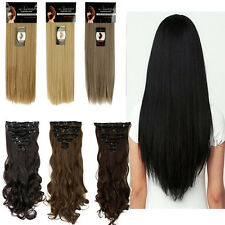 Real Thick Clip In Hair Extensions new Straight Full Head Hair Extentions linkt