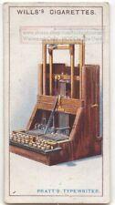 Pratt's Pterotype Typewriter Invention 1915  Ad Trade Card