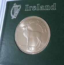1998 Repubblica d'Irlanda in Eire Irlandese Pre Euro £ 1 Uno Pound Coin PUNT nella visualizzazione