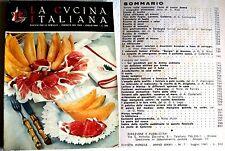 LA CUCINA ITALIANA N° 7  LUGLIO  1961    RIVISTA MENSILE  OTTIME STATO
