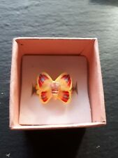 Brand new childs yellow butterfly ring size G.5! Children kids costume jewellery