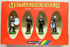4 Wm. Britains 54mm Royal Marines drum & bugle metal toy soldiers 7203 in box