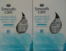 2x Boots Smooth Care Washable Warm Wax Roll-On Sensitive Skin 2x 100ml 20 strips