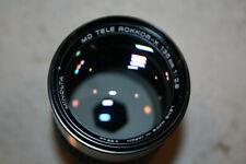 Minolta Md Tele Rokkor-X 135mm f2.8 Lens, Skylight 1A Filter, Rubber Hood
