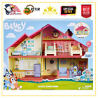 Blue Heeler Dog BLUEY\'S FAMILY HOME House Playset Pack & Go Girls Toy Gift HOT