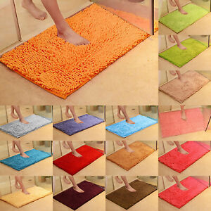 Microfiber Bath Mat Set Pedestal Non-Slip Bathroom Toilet Rugs Absorbent Home.