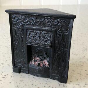 Dolls house miniature 1:12 corner fireplace
