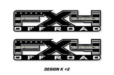 """FX4 Off Road Truck Bed Decal Set For Ford F150 09-14 Vinyl Stickers 17""""X4"""" BLK X"""