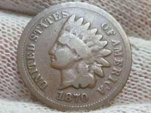 1870 Indian Head Cent Penny