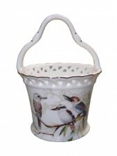 New Fine Bone China Kookaburra Bird Basket Xmas Gift Home Decor