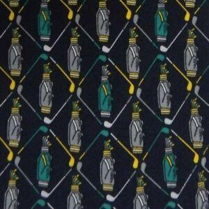 Blue Gray Golf Silk Tie
