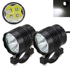 2pc 4000Lm 40W 4 LED T6 Feux de Jour Diurne Phare Lampe Vélo Voiture Moto Auto