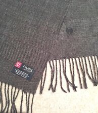 "Gray and Black Plaid Chaps 100% Acrylic Scarf 10""x 72""  Est. 1978"