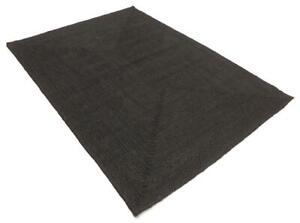 Rug Natural braided black jute handmade reversible area carpet decor runner rug