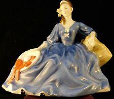 "Royal Doulton Figurine ""Elyse"" - Blue Dress - Hn2429"