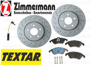 Mercedes with Sport Pkg C350 E250 E350 E400 Rotors+Pads Kit Zimmermann TEXTAR