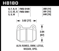 Hawk Disc Brake Pad Rear / Front for BMW, Alfa Romeo, Infiniti Opel / HB180G.560
