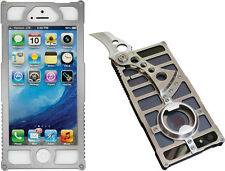 TactiCall Alpha 1 Polished AP1P Stainless iPhone 5 Case with Knife and Bottle Op