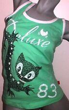 Pussy Deluxe Amphi Cat Tanktop grün Damen Sommer Shirt S NEU