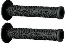DIAMOND BACK BMX GRIPS BLACK DIAMOND BACK FLANGED LOGO GRIPS GRIP END PLUGS NEW