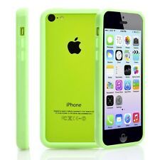 Green Soft TPU Protector Bumper Frame Snap Case Cover for Apple iPhone 5C