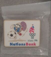 Soccer/Football Olympic Pin Badge~Sponsor:Nations Bank~Atlanta~1996~Mascot: IZZY