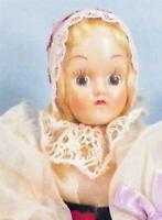 Vintage Dutch Girl Doll Hard Plastic Holland Pretty Costume
