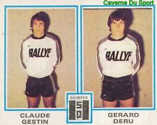 430 CLAUDE GESTIN - GERARD DERU STADE QUIMPEROIS STICKER FOOTBALL 1980 PANINI