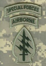 ISAF JSOC SP OPS RECON JTF INFIDEL SPECIAL FORCES WITH AIRBORNE vel©®Ø PATCH SET