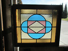 ANTIQUE AMERICAN STAINED GLASS WINDOW 24 x 21 4 OF 8  ~ ARCHITECTURAL SALVAGE ~