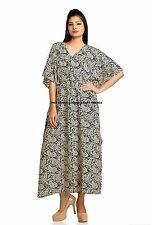 NEW LONG LENGTH KAFTAN DRESS INDIAN PAISLEY PRINT CAFTAN WOMEN DRESS MAXI GOWN