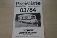 178223) LMC Caravan - Modellprogramm Preisliste - Prospekt 1983