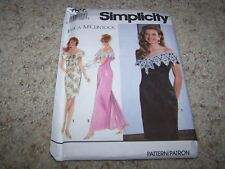 SIMPLICITY Sewing Pattern 7817 WOMENS EVENING DRESSES Size 4-8 UNCUT McClintock