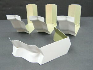"""Gutter Inside BAY Strip Miter 5"""" Aluminum 5 Inch White 30 deg. Angle Lot of 4"""