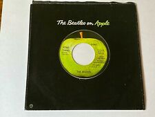 THE BEATLES ORIGINAL APPLE LABEL 45 SOMETHING / COME TOGETHER WITH APPLE SLEEVE