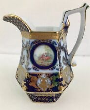 Antique Berlin Kpm Blue & Gold Porcelain Gilded Pitcher