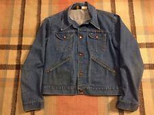 Vintage WRANGLER DENIM JEAN JACKET Size 44 Large TRUCKER 4 POCKET 126MJ USA!!!